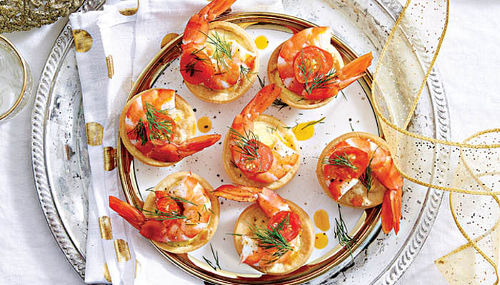 Roasted Tomato & Prawn Tarts