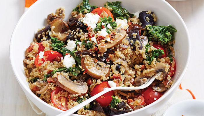Diabetic-Friendly Dinners - Quinoa Risotto with Chorizo & Mixed Mushrooms