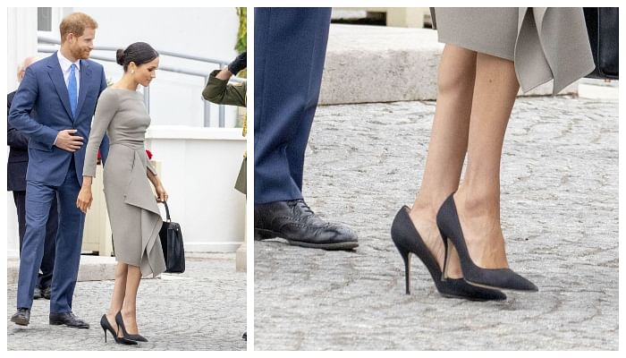 Here's The Secret Reason Why Meghan Markle Always Wears Her Shoes One Size Bigger
