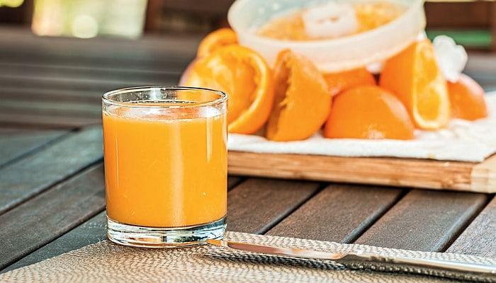 orange juice pulp