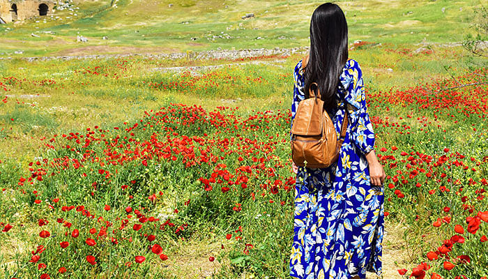 woman-flower-field-dress