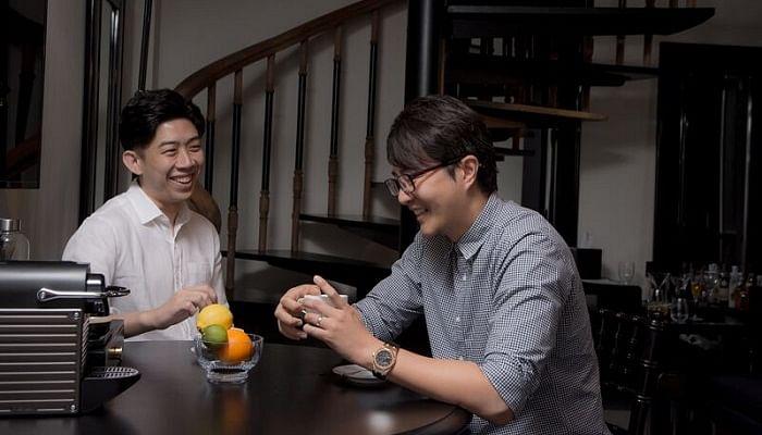 cofounders of healthmark - NateWang (L) AlvinTang (R)
