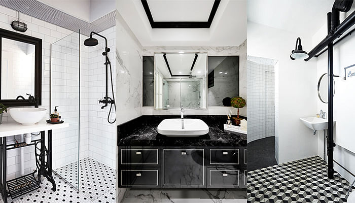 Monochrome Bathrooms In Singapore Homes That Are Super Chic