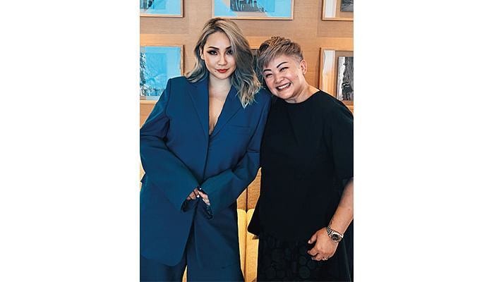 The Singapore Women's Weekly's Editor-in-Chief Barbara Koh and K-Pop Star CL_Lee Chae-Rin